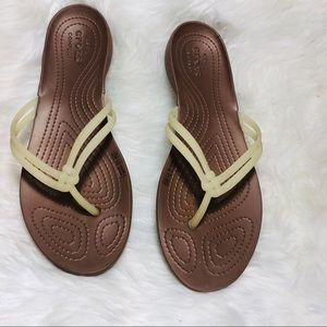 CROCS flip flops size 9